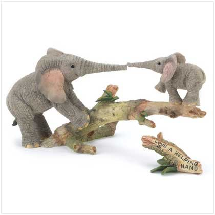 "TUSKERS ""Helping Hand"" Figurine"