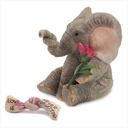 "TUSKERS ""Love is Never Forgetting"" Figurine"