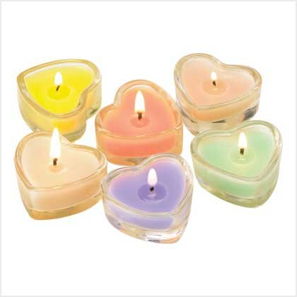 Candy Heart Tealight Set