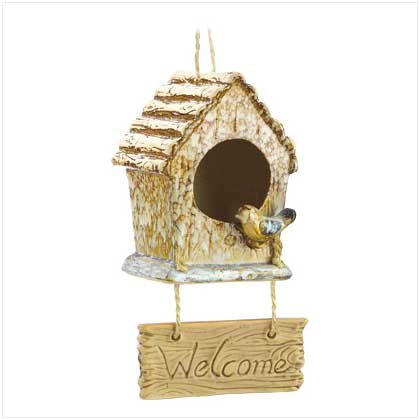 Folk art Welcome Birdhouse