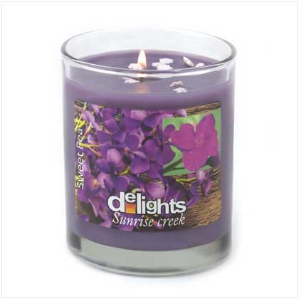Sweet Pea delight's Candle