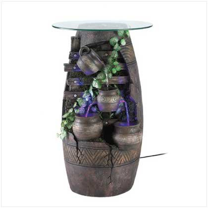 Serenity Fountain Accent Table