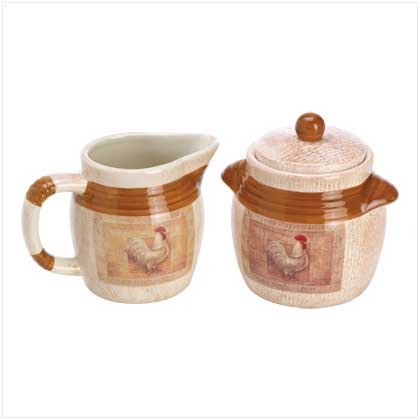 Le Poulet Sugar and Creamer Set