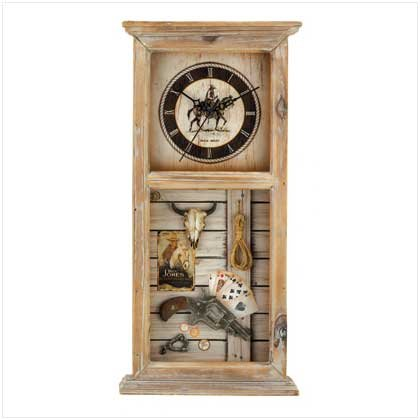 Western Cowboy Clock