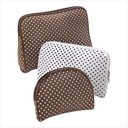 Cocoa Dots Travel Bag Trio