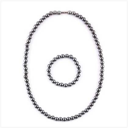 Magnetic Hemetite Jewellry Set