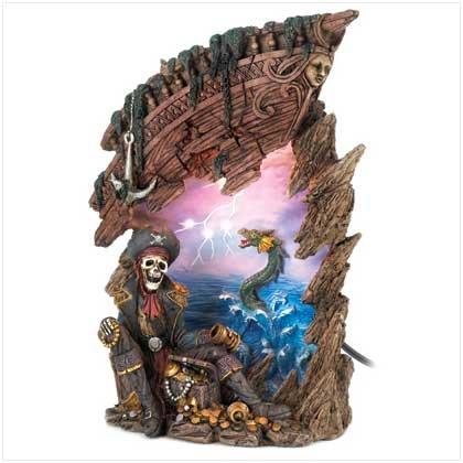Haunted Pirate Treasure lamp
