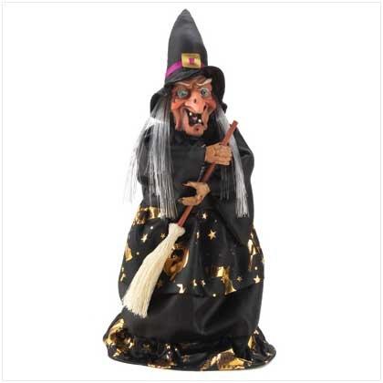 Animated Witch Figurine