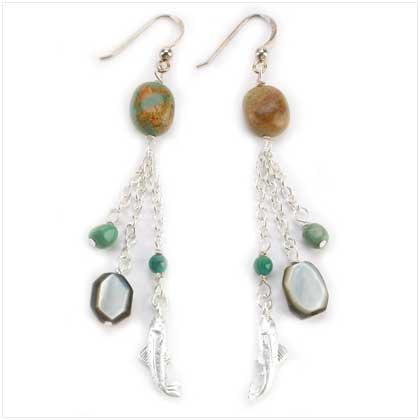 Big Sky Silver Charm earrings