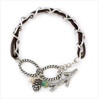 Silver Acorn Bracelet