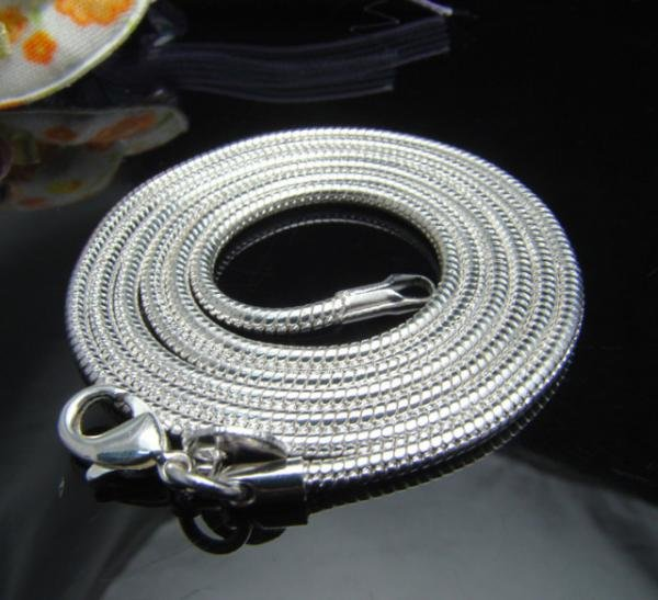 """2mm Sterling Silver Snake Chain 16"""""""