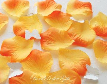 1000 ORANGE SILK ROSE PETALS WEDDING DECORATION FLOWER FAVOR RP022