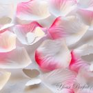 1000 PINK WHITE SILK ROSE PETALS WEDDING DECORATION FLOWER FAVOR RP007