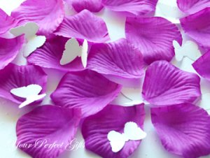 1000 PURPLE SILK ROSE PETALS WEDDING DECORATION FLOWER FAVOR RP024