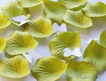 1000 WILLOW LIGHT GREEN SILK ROSE PETALS WEDDING DECORATION FLOWER FAVOR RP002