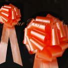 "10 ORANGE 9"" LARGE WEDDING PULL PEW BOWS BRIDAL CAKE GIFT BASKET DECORATION PB071"