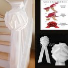 "10 WHITE 9"" TULLE NET WEDDING PEW BOWS BRIDAL CAKE GIFT BASKET DECORCATION PB055"