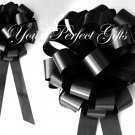 "10 BLACK 8"" WEDDING PULL PEW BOWS FOR BRIDAL CAKE GIFT BASKET DECORCATION PB028"