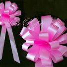 "10 CANDY PINK 8"" WEDDING PULL PEW BOWS FOR BRIDAL CAKE GIFT BASKET DECORCATION PB030"