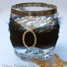 "50 OVAL 1.2"" Gold Diamante Rhinestone Crystal Buckle Sliders Wedding Invitation BK084"