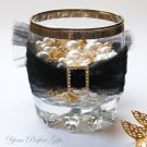 24 RECTANGLE Gold 22mm Diamante Rhinestone Crystal Buckle Sliders For Wedding Invitation BK089