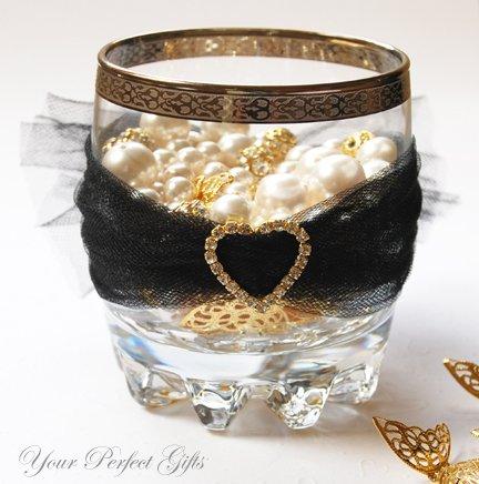 "24 LARGE HEART 1"" Gold Diamante Rhinestone Ribbon Buckle Sliders For Wedding Invitation BK026"