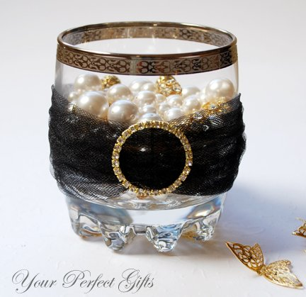 "24 ROUND 1.3"" Gold Large Diamante Rhinestone Ribbon Buckle Sliders For Wedding Invitation BK030"