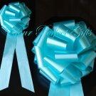 "10 TEAL BLUE 9"" LARGE WEDDING PULL PEW BOWS FOR BRIDAL CAKE GIFT BASKET DECORATION"