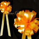 "10 ORANGE 9"" WEDDING PULL PEW BOWS FOR BRIDAL CAKE GIFT BASKET DECORATION PB147"