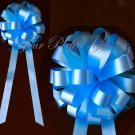 "10 BLUE 9"" WEDDING PULL PEW BOWS FOR BRIDAL CAKE GIFT BASKET DECORCATION"