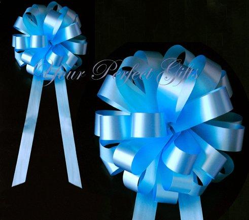 "10 TURQUOISE BLUE 8"" WEDDING PULL PEW BOWS FOR BRIDAL CAKE GIFT BASKET DECORCATION PB033"
