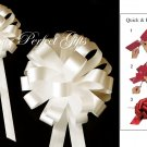 "10 IVORY 8"" WEDDING PULL PEW BOWS FOR BRIDAL CAKE GIFT BASKET DECORCATION PB022"