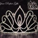 "4"" Swarovski Crystal Rhinestone Bridal Pageant Wedding Party Tiara Comb Crown Headband #5"