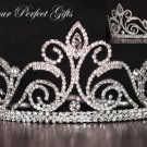 "3"" Swarovski Crystal Rhinestone Bridal Pageant Wedding Party Tiara Comb Crown Headband #6"