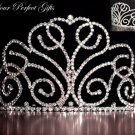 "3.75"" Swarovski Crystal Rhinestone Bridal Pageant Wedding Party Tiara Comb Crown Headband #1"
