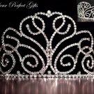 "3.75"" Swarovski Crystal Rhinestone Bridal Pageant Wedding Party Tiara Comb Crown Headband #1"
