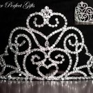 "3.75"" Swarovski Crystal Rhinestone Bridal Pageant Wedding Party Tiara Comb Crown Headband #2"