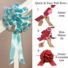 """10 TEAL BLUE IVORY 8"""" TWO LAYER WEDDING PULL PEW BOWS FOR BRIDAL CAKE GIFT BASKET DECORCATION"""