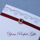 12 RECTANGLE Silver Diamante Rhinestone Ribbon Buckle Sliders For Wedding Invitation BK055