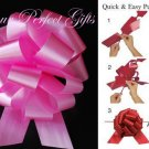 10 CANDY PINK 5&quot; WEDDING PULL PEW BOWS FOR BRIDAL CAKE GIFT BASKET DECORCATION