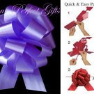 "10 PURPLE 5"" WEDDING PULL PEW BOWS FOR BRIDAL CAKE GIFT BASKET DECORCATION"