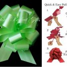 "10 GREEN 5"" WEDDING PULL PEW BOWS FOR BRIDAL CAKE GIFT BASKET DECORCATION"