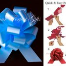 "10 BLUE 5"" WEDDING PULL PEW BOWS FOR BRIDAL CAKE GIFT BASKET DECORCATION"