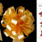 "10 GOLD ORANGE 8"" WEDDING PULL PEW BOWS FOR BRIDAL CAKE GIFT BASKET DECORCATION PB004"