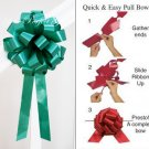"10 EMERALD GREEN 8"" WEDDING PULL PEW BOWS FOR BRIDAL CAKE GIFT BASKET DECORCATION PB002"