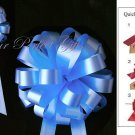 "10 PASTEL BABY BLUE 8"" WEDDING PULL PEW BOWS FOR BRIDAL CAKE GIFT BASKET DECORCATION PB003"