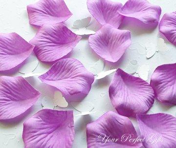 1000 LAVENDER PURPLE SILK ROSE PETALS WEDDING DECORATION FLOWER FAVOR RP015
