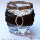 "1 pc OVAL 1.2"" Silver Diamante Rhinestone Crystal Buckle Slider Wedding Invitation BK062"