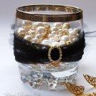 1 pc OVAL Gold 20mm Diamante Rhinestone Crystal Buckle Slider For Wedding Invitation BK088