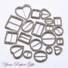 40 pcs Rhinestone Buckle Sample Sale - Perfect for making wedding invitation samples